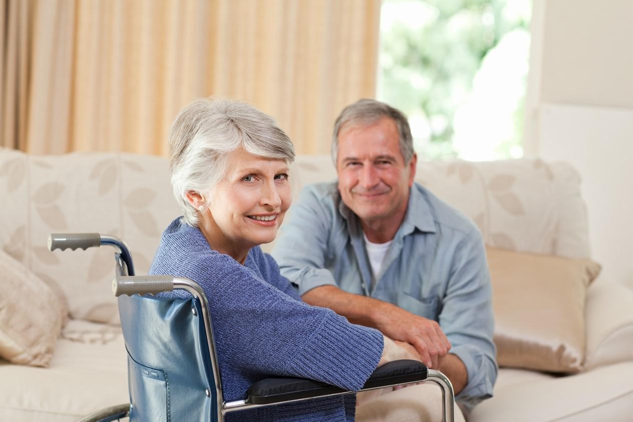 ouder echtpaar rolsotel